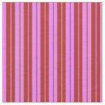 [ Thumbnail: Violet and Red Colored Stripes Fabric ]