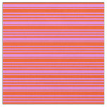 [ Thumbnail: Violet and Red Colored Stripes Pattern Fabric ]