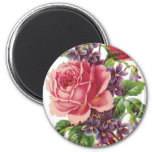 Violet and Rose Personal Magnet 2 Inch Round Magnet