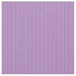 [ Thumbnail: Violet and Slate Gray Colored Stripes Pattern Fabric ]