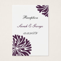 violet and white Reception   Cards
