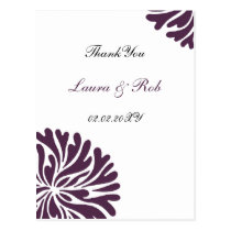 violet and white ThankYou Cards
