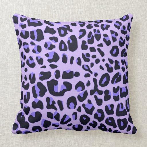 Violet animal print design pillow Zazzle