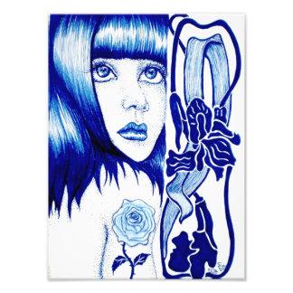 Violet Art Nouveau Print Photographic Print