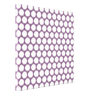 Violet Asian Moods Ikat Dots Canvas Print