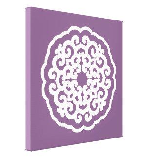 Violet Asian Moods Mandalla Stretched Canvas Print