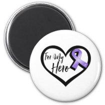 Violet Awareness Ribbon For My Hero Magnet
