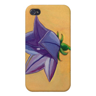 Violet balloon flower gouache painting pretty art cases for iPhone 4