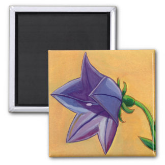 Violet balloon flower gouache painting pretty art magnets