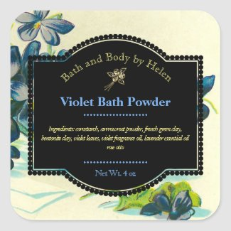 Violet Bath and Body Care Label