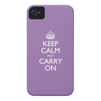 Violet Bellflower Keep Calm And Carry On Case-Mate iPhone 4 Case