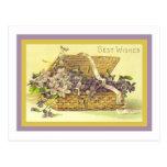 Violet Best Wishes Postcard