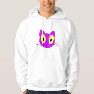 Violet big eye cat hoodie