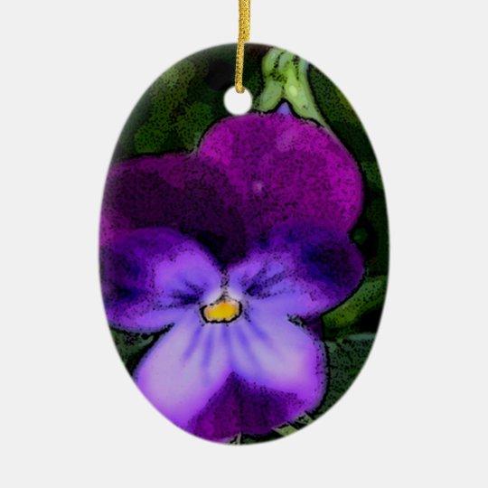 Violet Birthday Ornament