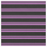 [ Thumbnail: Violet & Black Pattern Fabric ]