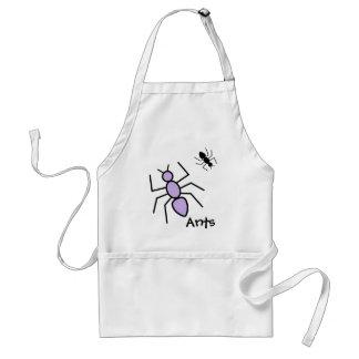 Violet & Black Vector Ants Adult Apron