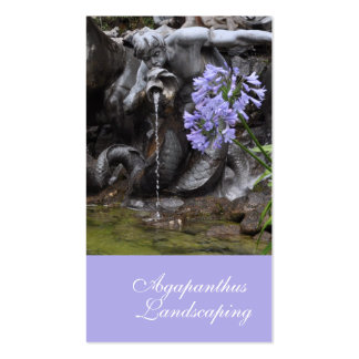 Violet blue agapanthus with matching color panel business card