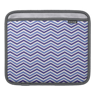 Violet Blue and White Chevron Stripes Sleeves For iPads