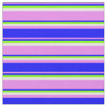 [ Thumbnail: Violet, Blue, Chartreuse & Light Cyan Lines Fabric ]