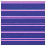 [ Thumbnail: Violet & Blue Colored Pattern Fabric ]