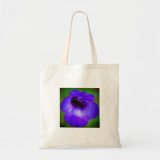 Violet Blue Flower Tote Bag