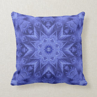 Violet Blue Frost Throw Pillow