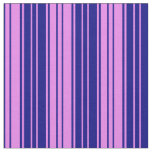 [ Thumbnail: Violet & Blue Striped/Lined Pattern Fabric ]