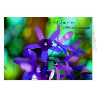 Violet Blue Vines~Queen's Wreath Card