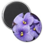Violet Boquet 2 Inch Round Magnet