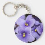 Violet Boquet Basic Round Button Keychain