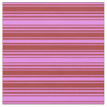 [ Thumbnail: Violet & Brown Colored Lines Fabric ]