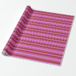 [ Thumbnail: Violet & Brown Colored Lines Wrapping Paper ]