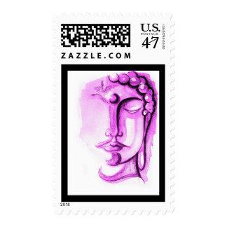 """VIOLET BUDDHA, 2.1"""" x 1.3"""", $0.47 (1st Class 1oz) Postage"""