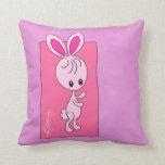 """Violet"" Bunny Throw Pillow"