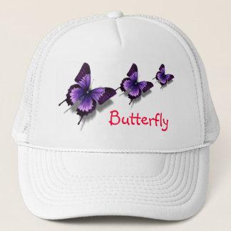 violet butterfly trucker hat