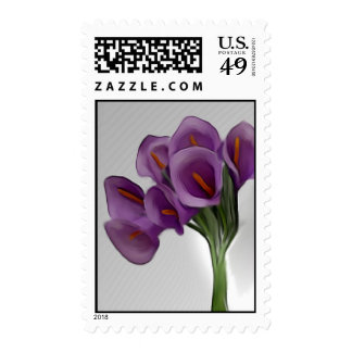Violet Calla Lilly Postage