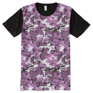 Violet Camo All-Over Print Shirt