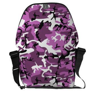 Violet Camo Messenger Bag