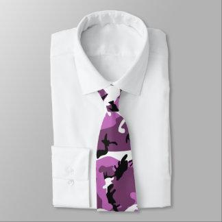 Violet Camo Neck Tie