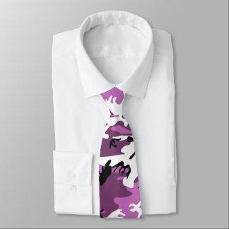Violet Camo Tie