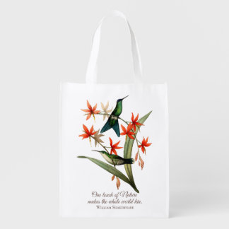 Violet Capped Wood Nymph Hummingbird Grocery Bag