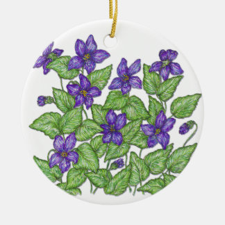 Violet Ceramic Ornament