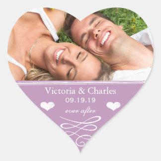 Violet Chalkboard Wedding Save the Date Seal