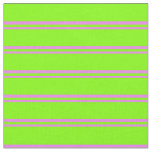 [ Thumbnail: Violet & Chartreuse Colored Striped Pattern Fabric ]