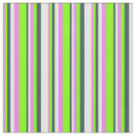 [ Thumbnail: Violet, Chartreuse, Dark Slate Gray & Mint Cream Fabric ]