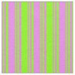 [ Thumbnail: Violet & Chartreuse Stripes/Lines Pattern Fabric ]