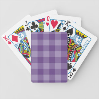 Violet checkered background bicycle playing cards