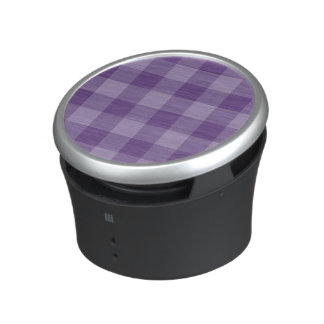 Violet checkered background bluetooth speaker