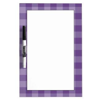 Violet checkered background Dry-Erase board