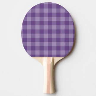 Violet checkered background Ping-Pong paddle